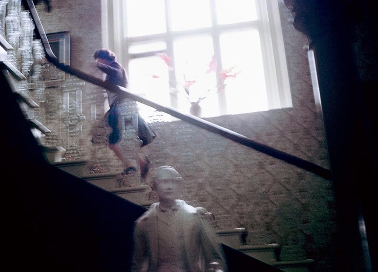 Queen Elizabeth Running Upstairs