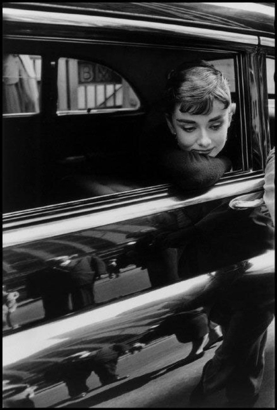 "Audrey Hepburn during the filming of ""Sabrina"" by Billy Wilder"