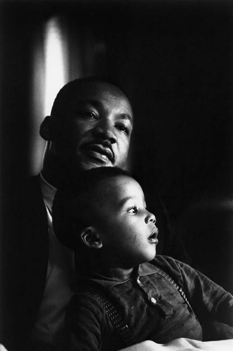 Flip Schulke Dr Martin Luther King Jr With Son Dexter Photograph At 1stdibs