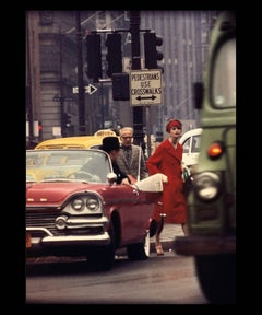Anne St. Marie + Cruiser in Traffic, NY (Vogue)