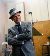 Frank Sinatra at a Capital Records Recording Session in Los Angeles