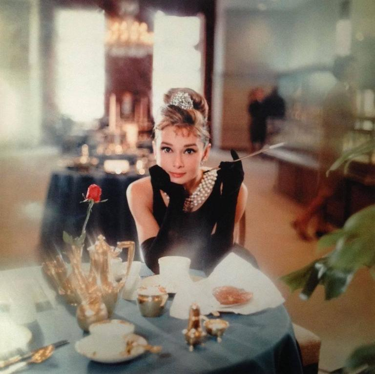 Howell Conant Color Photograph - Audrey Hepburn as Holly Golightly at Tiffany's Fifth Avenue