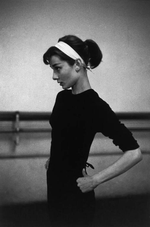 David Seymour Black and White Photograph - Dutch actress Audrey Hepburn, Paris, France