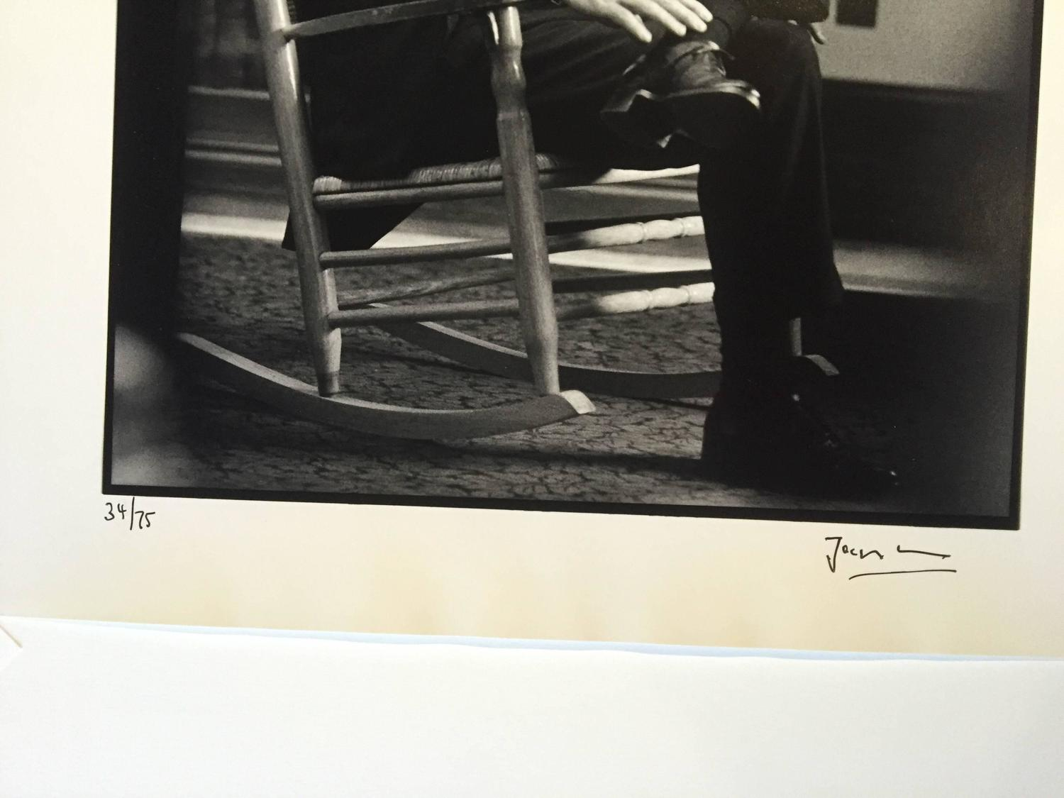 Jacques Lowe Rocking Chair Senator John F. Kennedy In His Senat . Full resolution  portraiture, nominally Width 1500 Height 1125 pixels, portraiture with #867D45.
