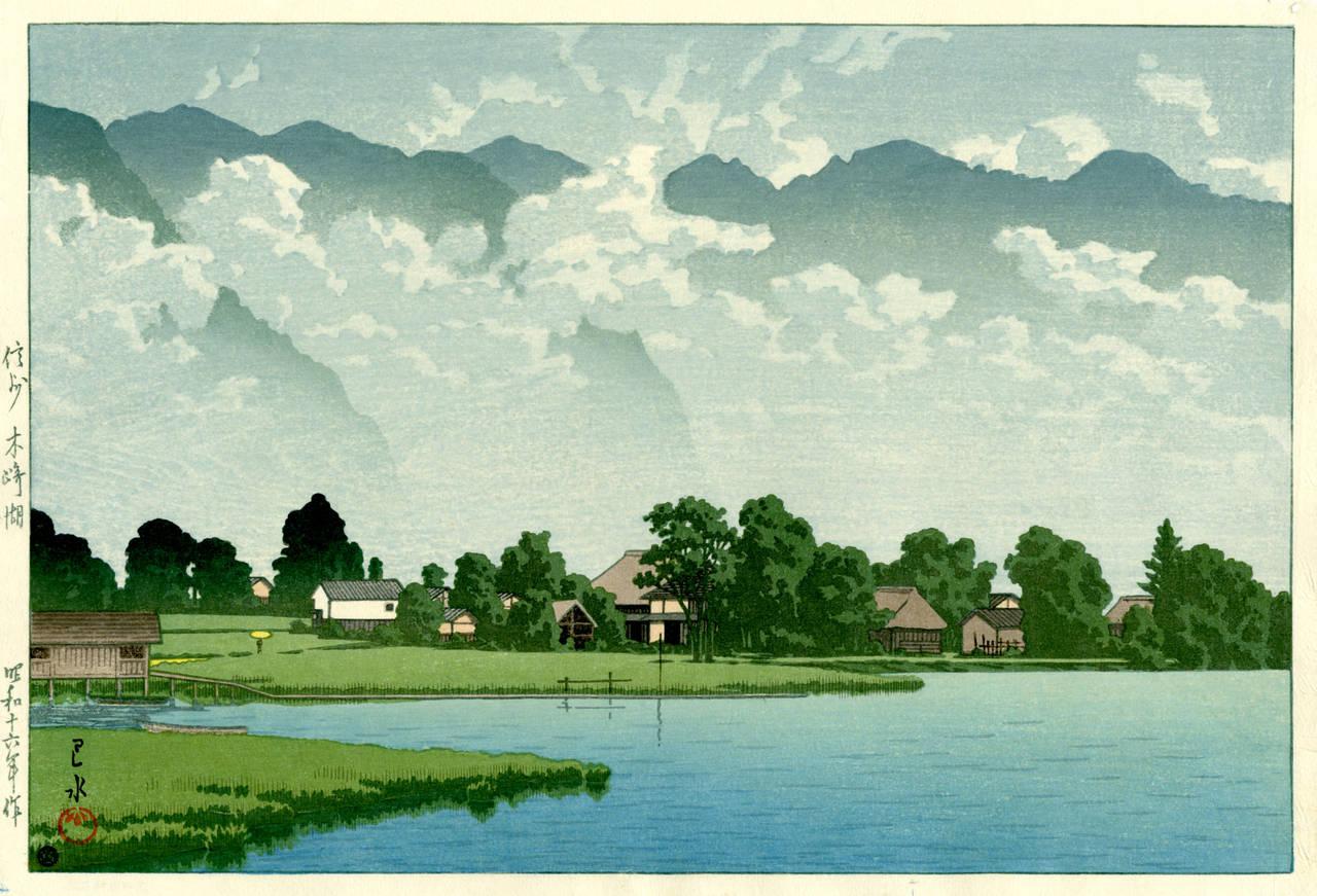 Kawase Hasui Lake Kizaki Shinshu At 1stdibs