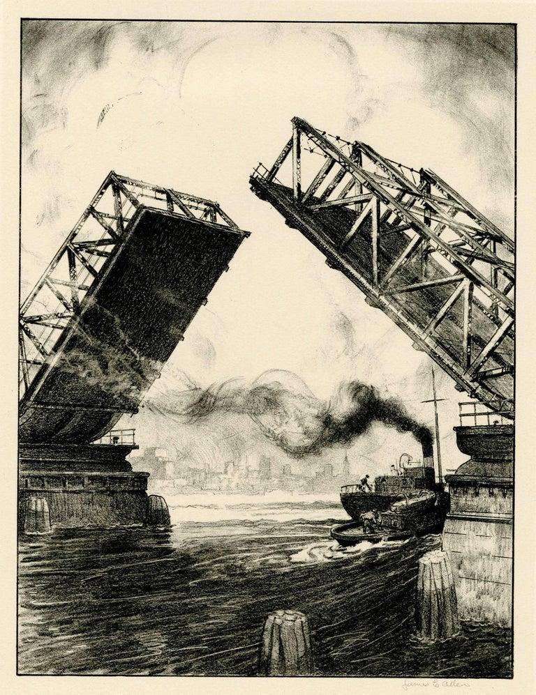 James Allen Landscape Print - The Bridge