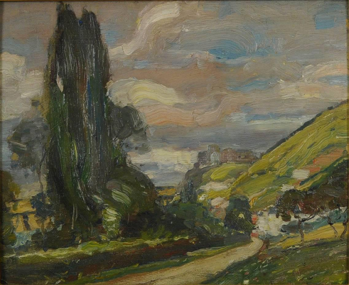 Road in Summer, near Giverny (A view from Andelys looking across to Vernon