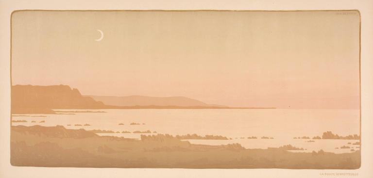 Paul Berthon Landscape Print - La Pointe de Bretteville