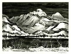 Snow Mountain (or Lake in the Mountains)