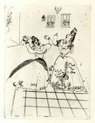 Marc Chagall - Dames charmante et charmante a tous egards