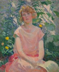 Portrait of a Young Girl in a Garden