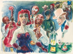 Brick Tops Place Paris '27; Verso: Elliot Paul gives a party for Picasso, Paris