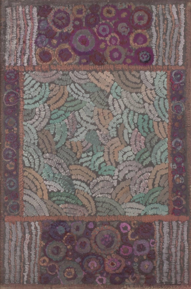 Marguerite Gross Abstract Painting - (Untitled) Fabric Design