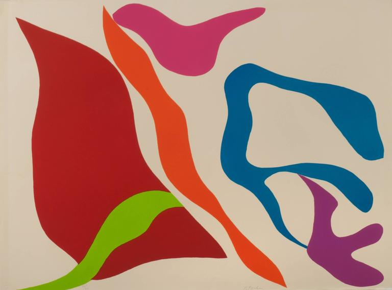 Ray Parker Abstract Print - Abstraction (Red)