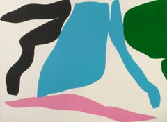 Abstraction (Light blue, Pink, Green, Black)
