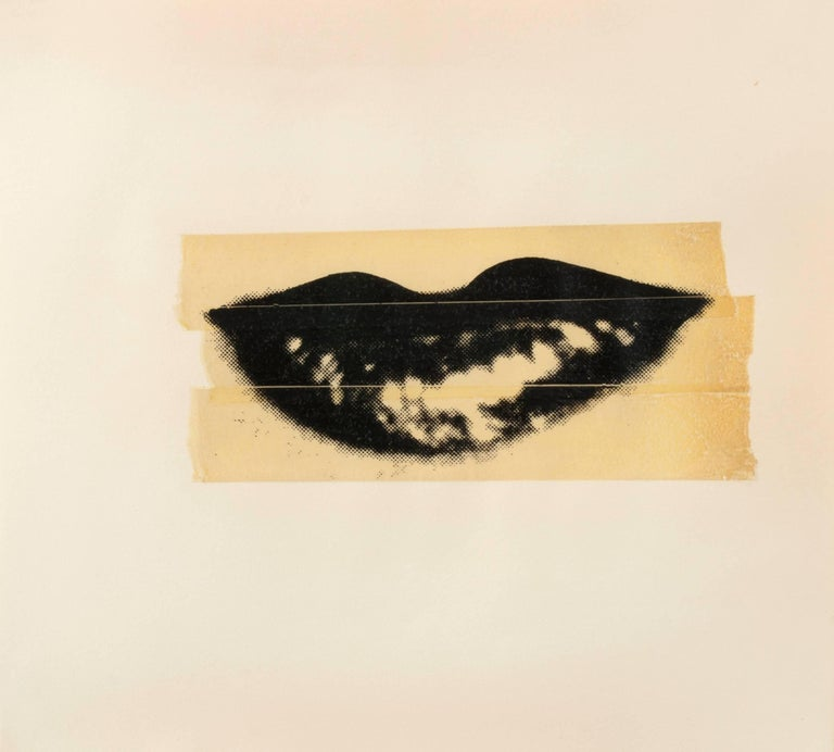 Lips - Mixed Media Art by Andy Warhol