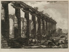 Vue laterale du Temple de Junon… (Side view of the Temple of Juno…)