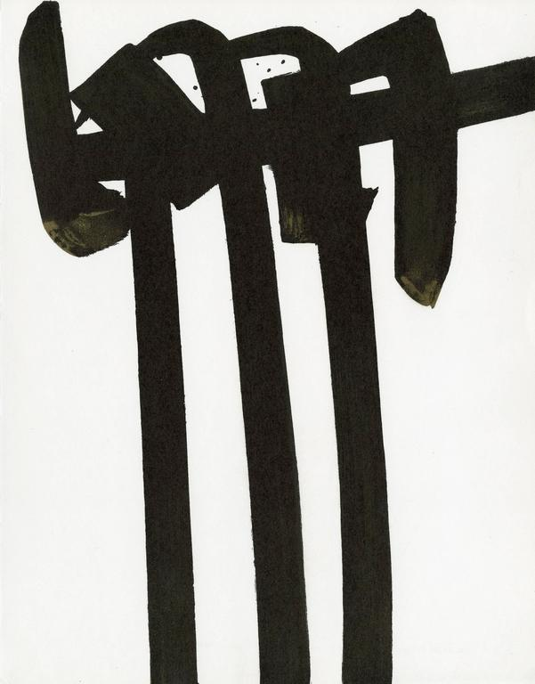 """Pierre Soulages Abstract Print - """"Illustration Siecles No. 34"""" 1970"""