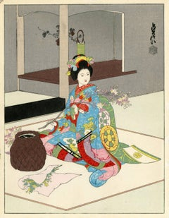 No. 2, A Maiko Arranging Flowers