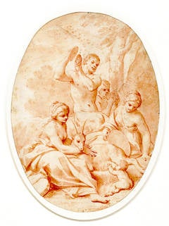 The Infant Jupiter Nursing from the She-Goat Amaltheia (The Birth of Jupiter)
