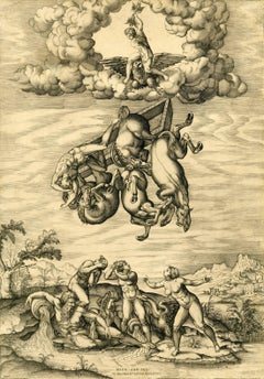 Nicolas Beatrizet - Fall of Phaeton, after Michelangelo Buonarroti (1475-1564)
