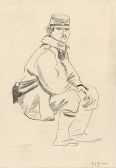 Seated Soldier Facing the Viewer