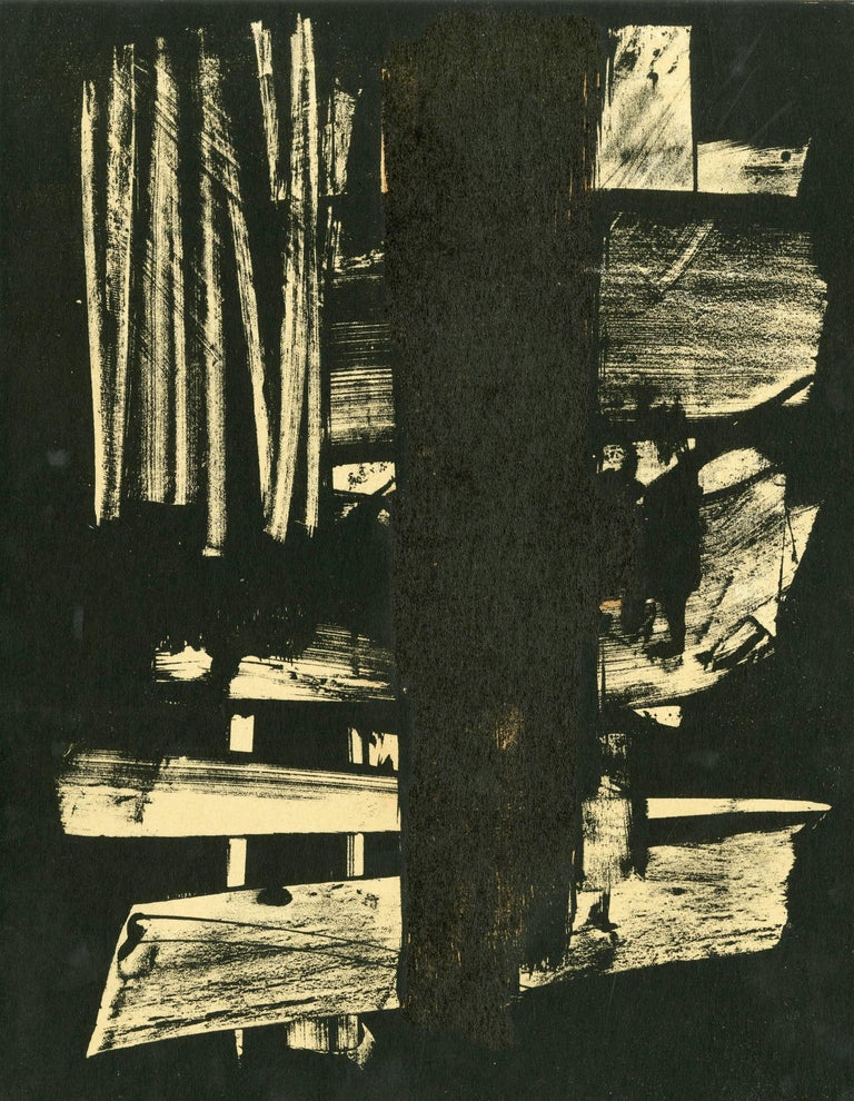 Pierre Soulages Abstract Print - Lithographie n°9, Pour XXeme Siecle