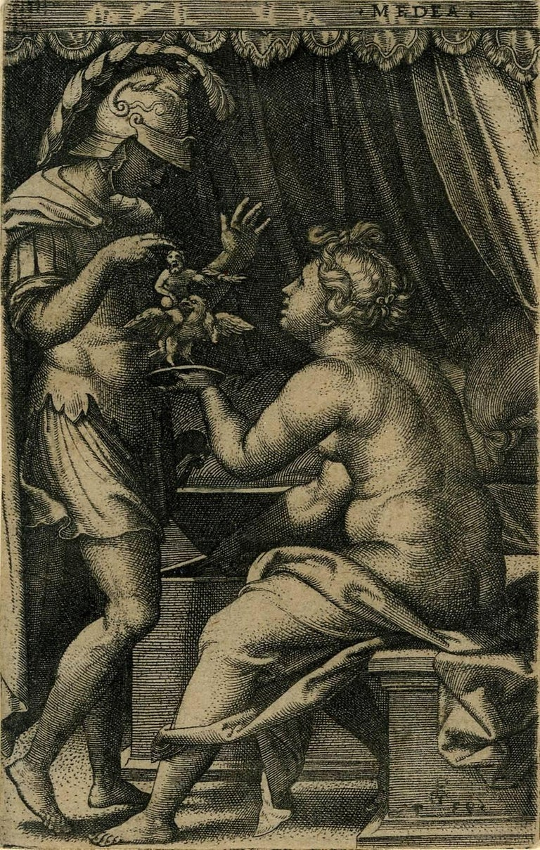 Medea and Jason - Print by Georg Pencz