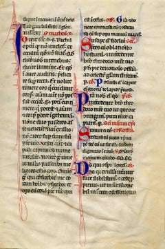 Folio from Communion of Saints, Reading from the Book of St. Matthew.