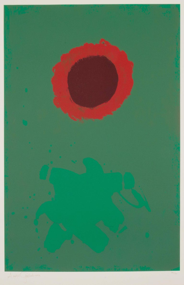 Adolph gottlieb chrome green print for sale at 1stdibs for Abstract posters for sale