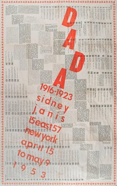 Dada: 1916-1923, Sidney Janis, 15 East 57, New York, April 15 to May 9, 1953