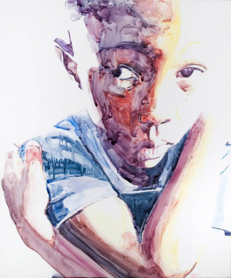 Darius Steward Portrait Painting - Separates Selves #2 (Darius II)