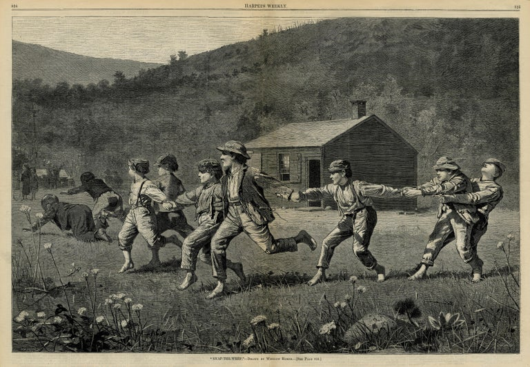 Winslow Homer Figurative Print - Snap the Whip