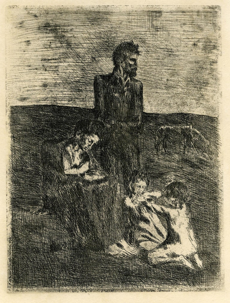 Pablo Picasso Figurative Print - Les Pauvres (The Poor)