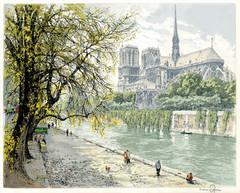 Notre Dame de Paris and the Ile de la Cite, Paris