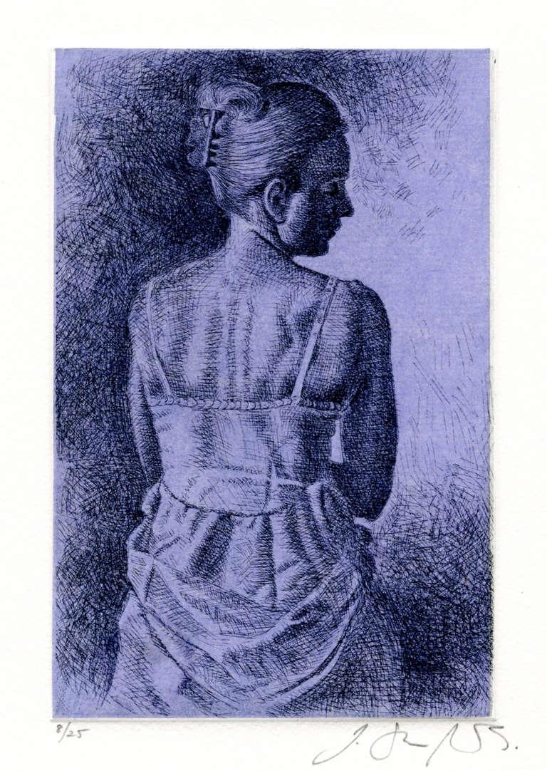 Stone Roberts Figurative Print - Figure Study (From Interior: Evening)