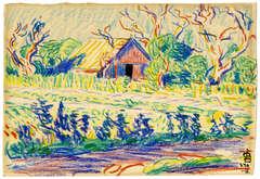 Preliminary Sketch for Old Barn at Sheepshead Bay