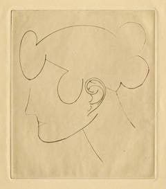 Woman's Head - Woman's Head in Profile (left) (Havard)