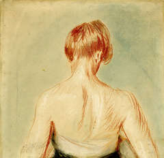 Untitled (Young woman seen from the back)