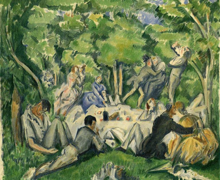 After Paul Cezanne Landscape Print - Dejeuner sur l'Herbe