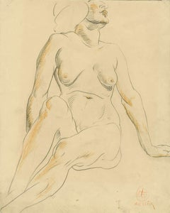 Untitled (seated female nude)
