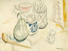 Still Life (with pipe, apple, sugar bowl and cup and saucer)
