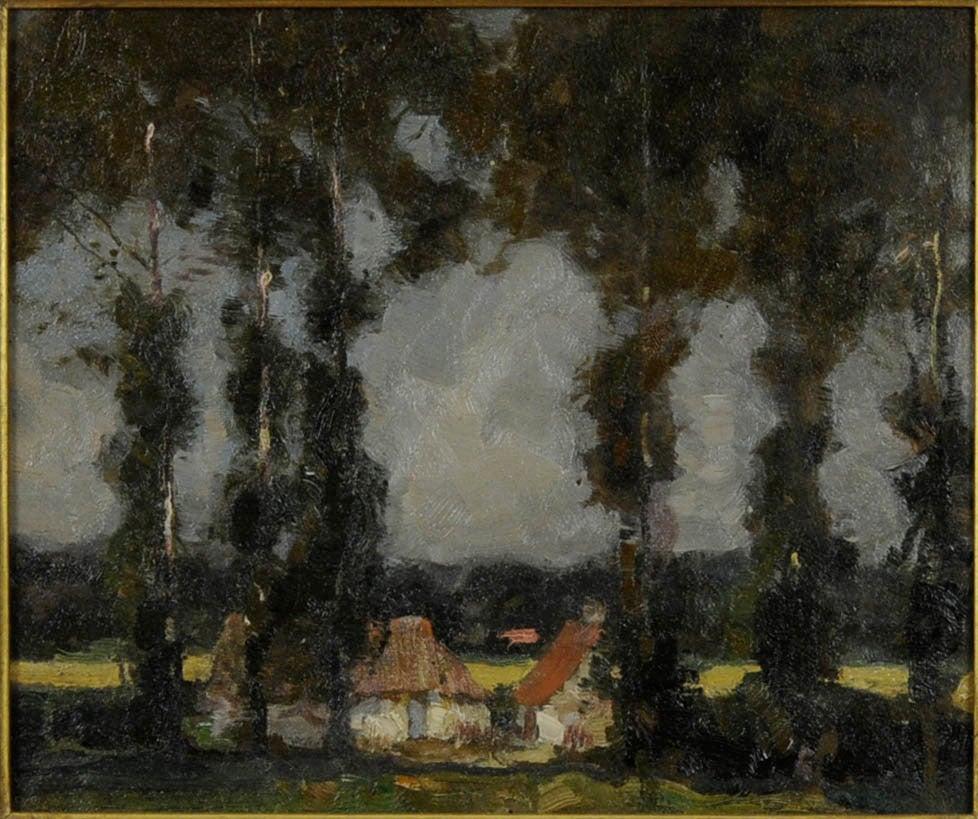 Karl Albert Buehr Landscape Painting - Poplars, Summer Landscape, South France