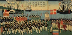 Foreign Soldiers from Five Countries at the Port of Yokohama