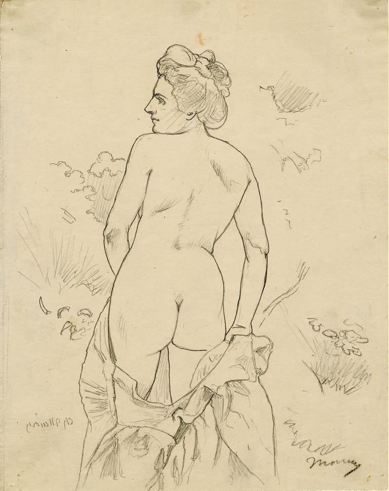 Nude in a Landscape Facing Left - Art by Charles Maurin