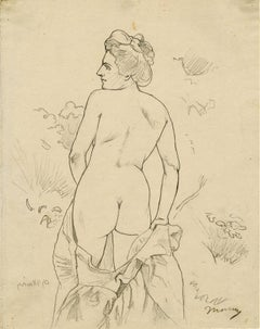 Nude in a Landscape Facing Left
