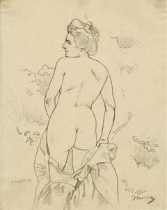 Nude in a Landscape Facing Left