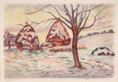 Paysage aux meules (Landscape with Haystacks)