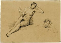 Seated Female Nude (two studies)