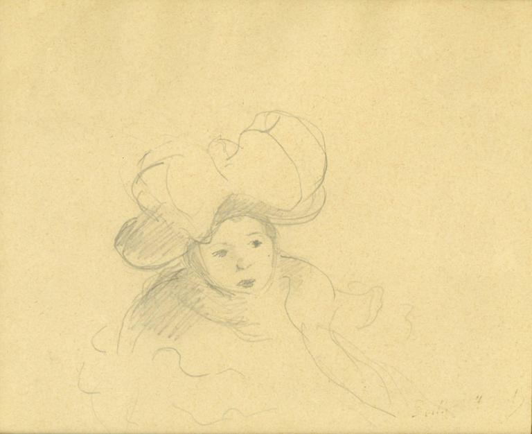 Modele au Chapeau or Child with a Large Hat